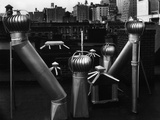 Nancy Newhall's Rooftop, New York City Photographic Print by Brett Weston