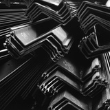 Stacked Pieces of  Steel Photographic Print by Brett Weston