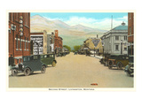 Second Street, Livingston, Montana Prints