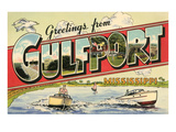 Greetings from Gulfport, Mississippi Posters