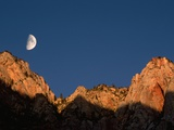 Moon over Streaked Wall Formation Photographic Print by Bob Krist
