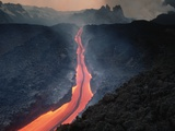 Lava Flowing from Mount Etna Photographic Print by Roger Ressmeyer