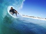 Surfing in Australia Photographic Print by Mark A. Johnson