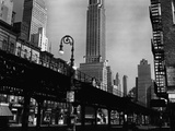 Elevated Rail Track and the Empire State Building by Brett Weston Photographic Print by Brett Weston