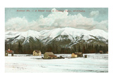 Kootenai Mountains in Winter, Montana Art