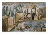 Detail of Palestrina Mosaic Giclée-Druck von S. Vannini