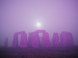 Moon Setting Over Stonehenge Photographic Print by Roger Ressmeyer