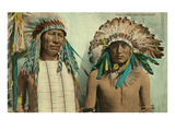 Plains Indian Chiefs, Two Lodge, Long Bear Posters