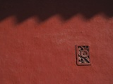 Brick Carving of Flowers on Forbidden City Wall Photographic Print by Keren Su