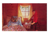 Red Riding Hood Tableau Poster