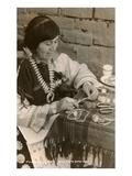 Pueblo Woman Silversmith Prints
