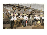 Men in Sombreros at Bar, Tijuana, Mexico Prints