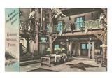 Lobby, Lake McDonald Hotel, Glacier Park, Montana Prints