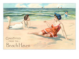 Greetings from Beach Haven, New Jersey Print