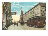 Front Street, Traverse City, Michigan Kunstdruck