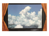 Clouds Framed by Curtains, Retro Prints