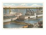 Mississippi Riverfront, St. Louis, Missouri Print