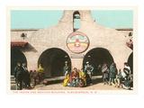 Indian and Mexico Building, Albuquerque, New Mexico Poster