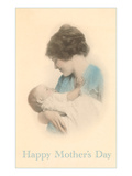 Happy Mothers Day, Mother with Baby Print