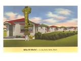 Mile-Hi Motel, Butte, Montana Poster
