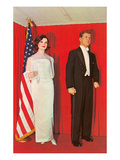 Wax Effigies of the Kennedys, Retro Print