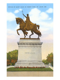 Statue of St. Louis, Forest Park, St. Louis, Missouri Poster