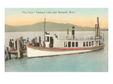 Boat on Flathead Lake, Montana Print