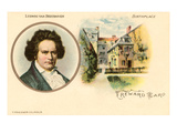 Ludwig van Beethoven and Birthplace Print