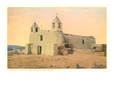 Old Church, Isleta Pueblo, New Mexico Prints