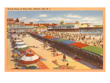 Scène de plage, Atlantic City, New Jersey Posters