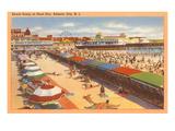 Scène de plage, Atlantic City, New Jersey Affiches
