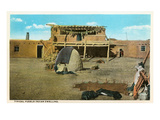 Pueblo Indian Dwelling Art