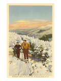 Skiing, Cannon Mountain, New Hampshire Poster