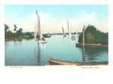 Sailboats, Lake Minnetonka, Minnesota Poster