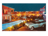 Bel Air Palms Motel, Retro Print