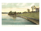Merrimack River, Manchester, New Hampshire Prints