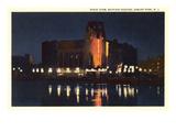 Night, Mayfair Theater, Asbury Park, New Jersey Prints