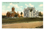 Courthouse and Jail, Traverse City, Michigan Posters