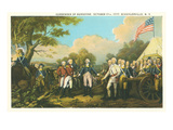 Surrender of Burgoyne, Revolutionary War Posters