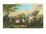 Surrender of Burgoyne, Revolutionary War Posters