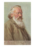 Portrait of Brahms Print