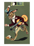 Rabbit with Guitar and Broken Eggs Prints