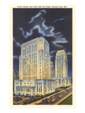 Night, Courthouse and City Hall, Kansas City, Missouri Prints
