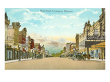 Main Street, Livingston, Montana Posters
