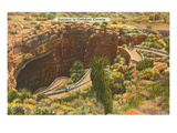 Entrance to Carlsbad Caverns, New Mexico Print