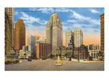 Downtown Detroit, Michigan Poster