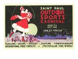 Publicité pour le carnaval de Saint- Paul, Minnesota Affiches