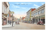 Aurora Street, Ironwood, Michigan Prints