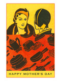 Happy Mothers Day, Ladies with Appliance Motifs Posters