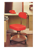 Swivel Office Chair, Retro Posters